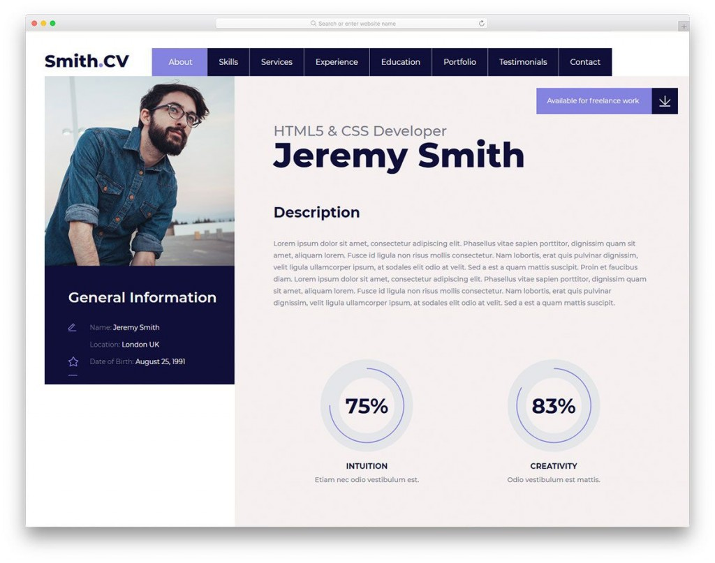 009 Exceptional Web Page Template Html Free Download Design  One Website Cs SingleLarge