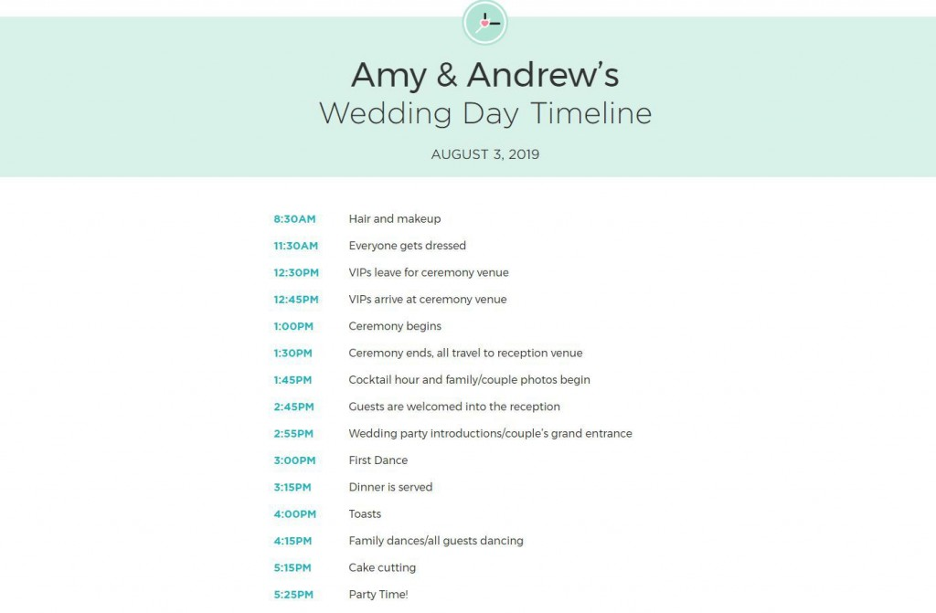 009 Exceptional Wedding Day Schedule Template Example  Excel Editable Timeline Free WordLarge