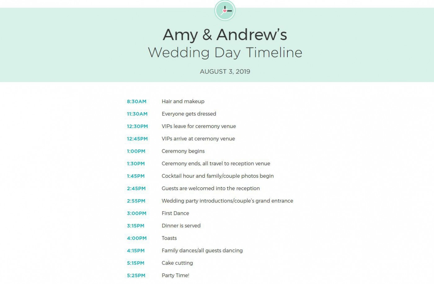 009 Exceptional Wedding Day Schedule Template Example  Excel Editable Timeline Free Word1400