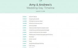 009 Exceptional Wedding Day Schedule Template Example  Templates Timetable Timeline Printable Itinerary Excel