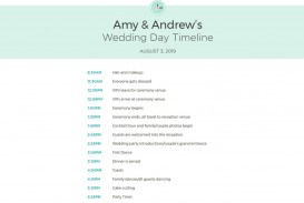 009 Exceptional Wedding Day Schedule Template Example  Excel Editable Timeline Free Word