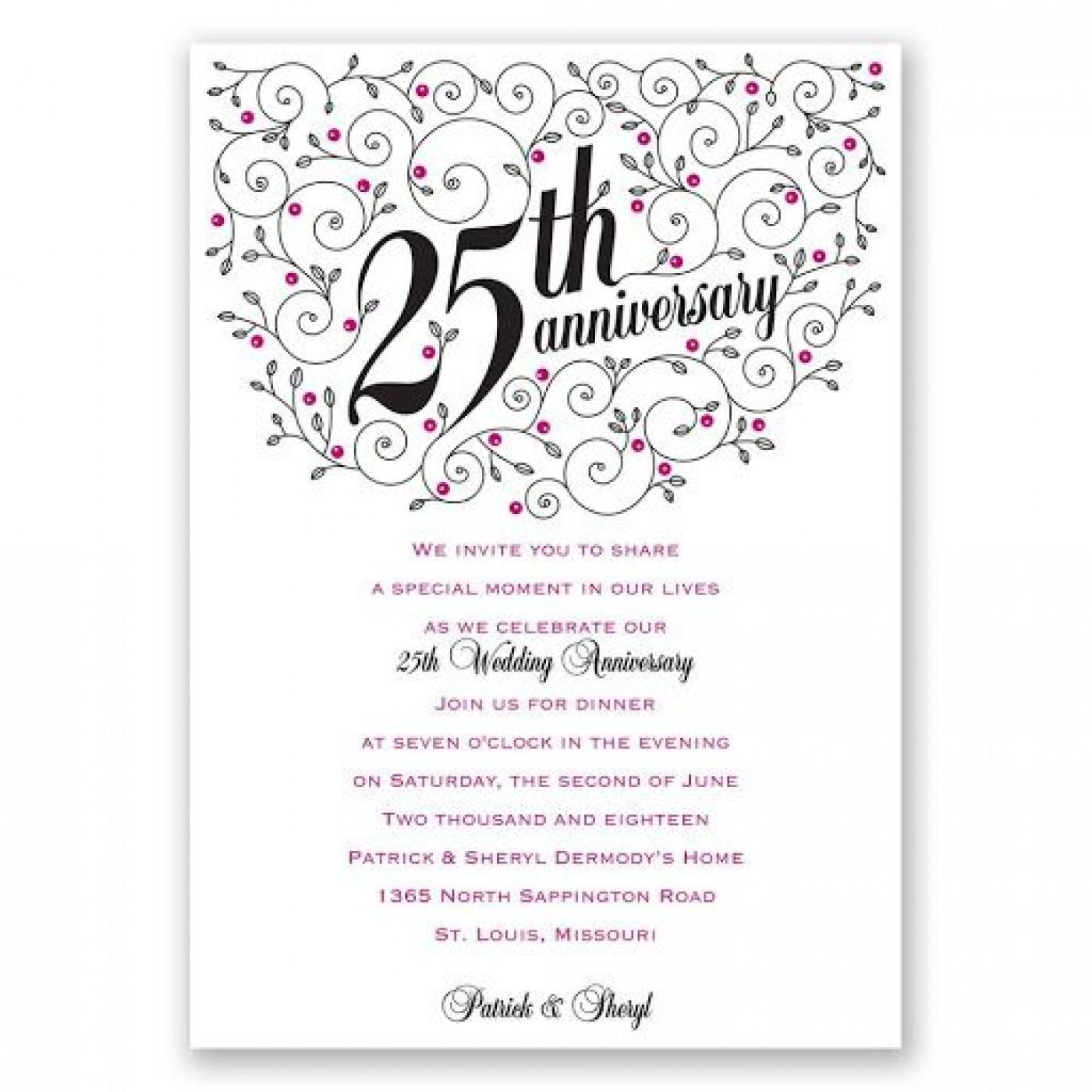 009 Fantastic 50th Anniversary Invitation Wording Sample Highest Clarity  Wedding 60th In Tamil Birthday1400