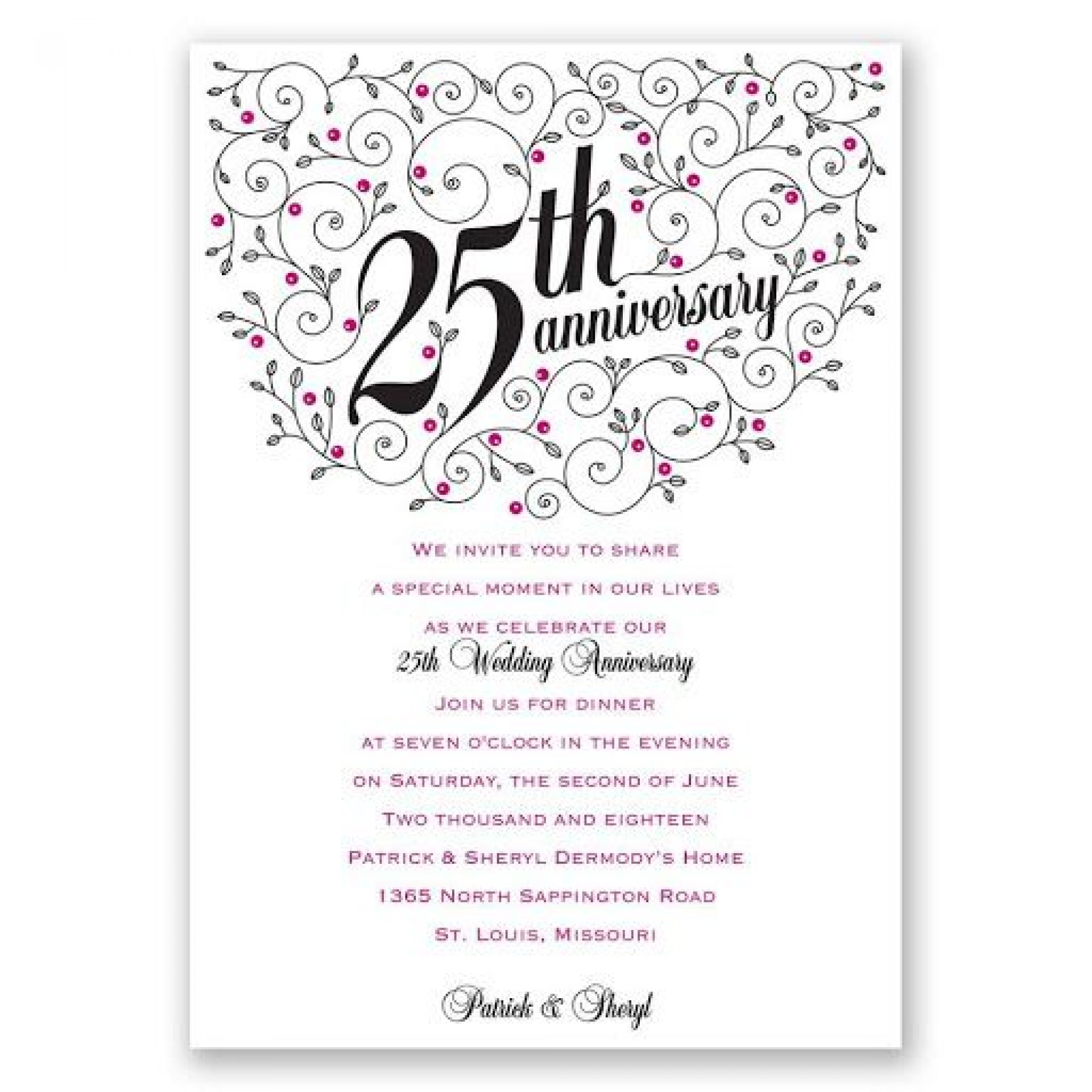 009 Fantastic 50th Anniversary Invitation Wording Sample Highest Clarity  Samples Wedding Card1920