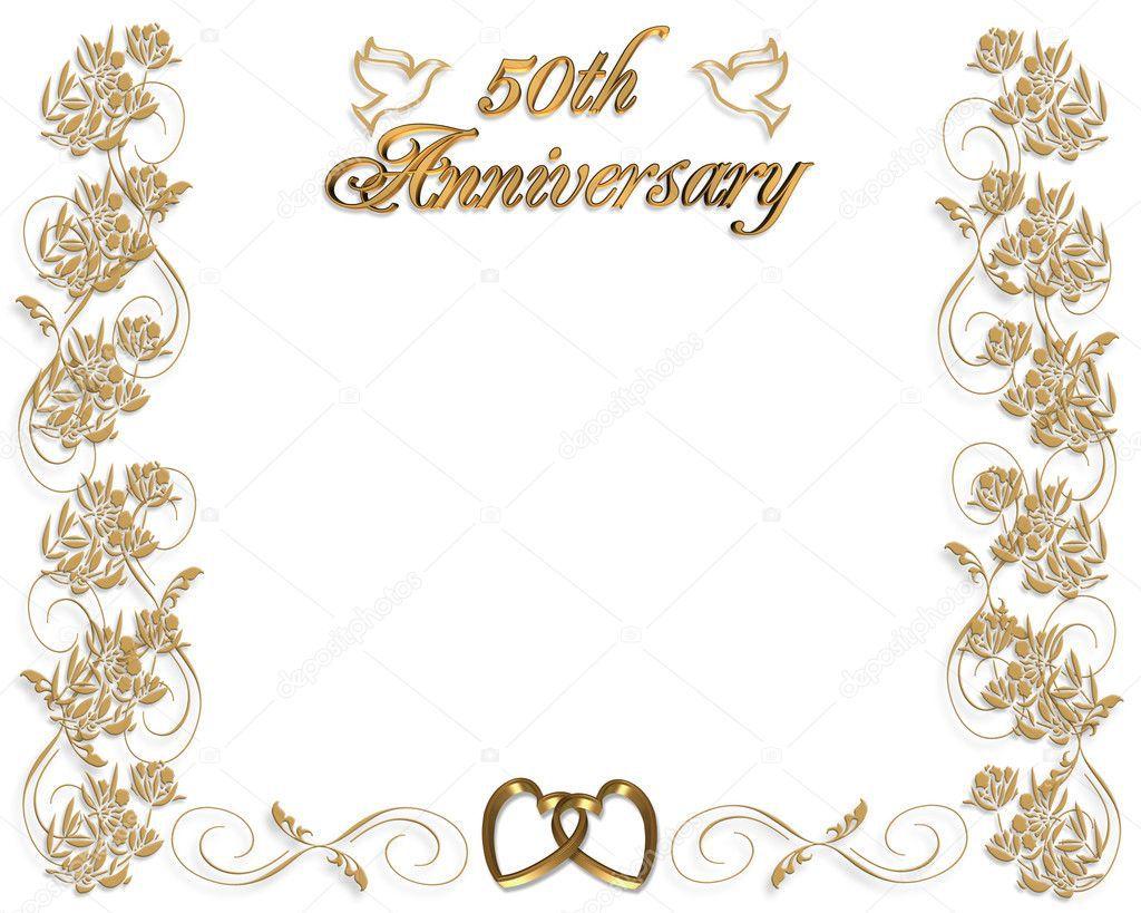 009 Fantastic 50th Wedding Anniversary Invitation Design Highest Quality  Designs Wording Sample Card Template Free DownloadFull