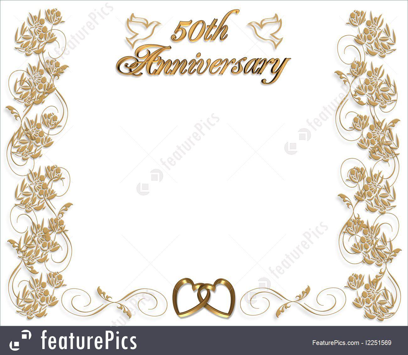 009 Fantastic 50th Wedding Anniversary Invitation Template Concept  Templates Card Sample GoldenFull