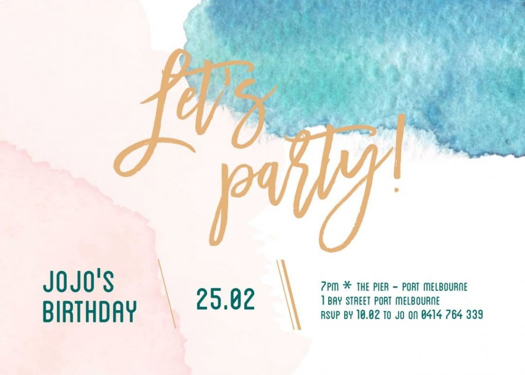 009 Fantastic Birthday Party Invitation Template Design  Templates Google Doc 80th Free Download OnlineLarge