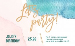 009 Fantastic Birthday Party Invitation Template Design  Templates Google Doc 80th Free Download Online