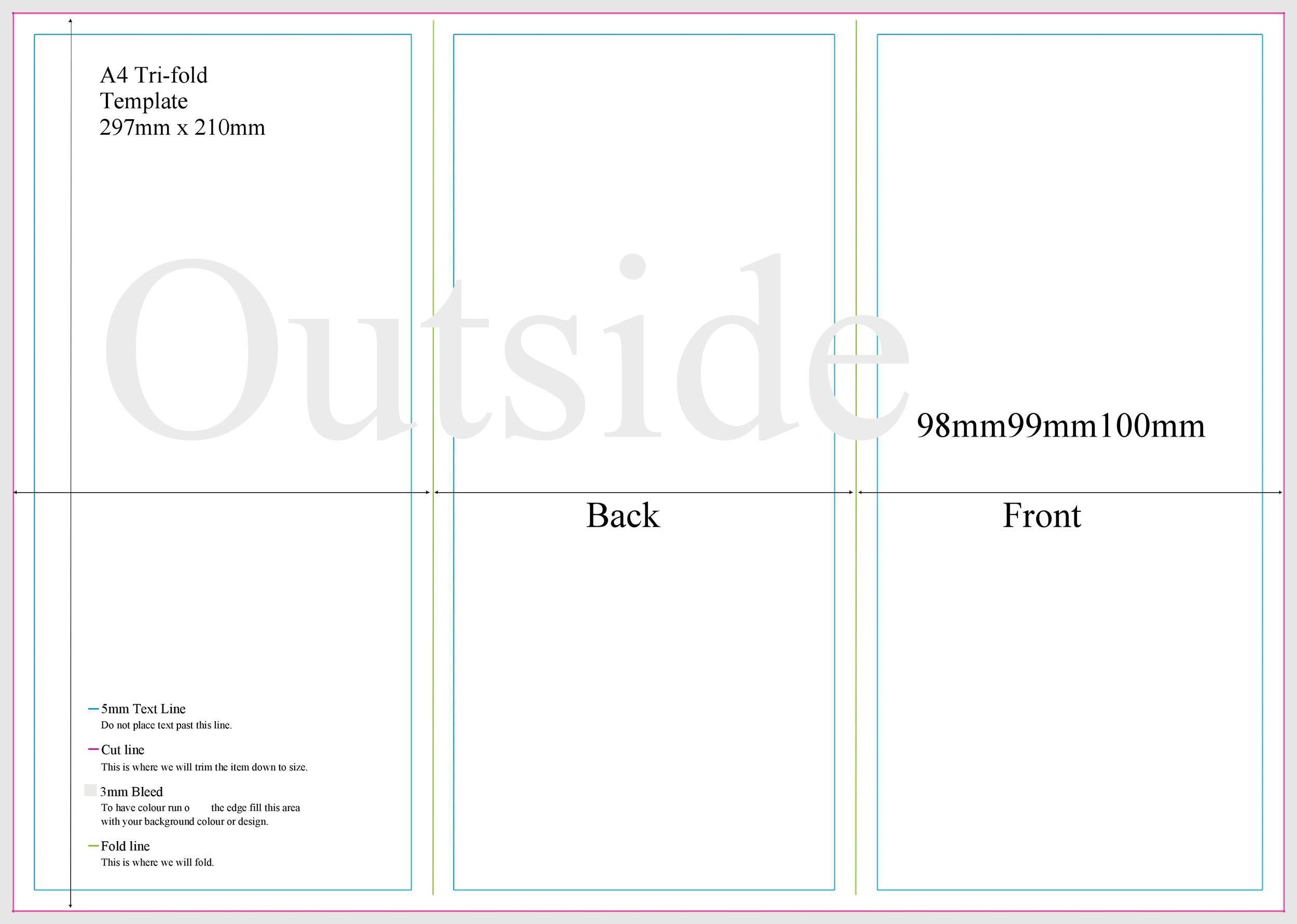 009 Fantastic Brochure Template Google Doc Image  Blank Tri Fold SlideFull