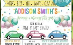 009 Fantastic Diy Baby Shower Invitation Template Sample  Templates Diaper Free