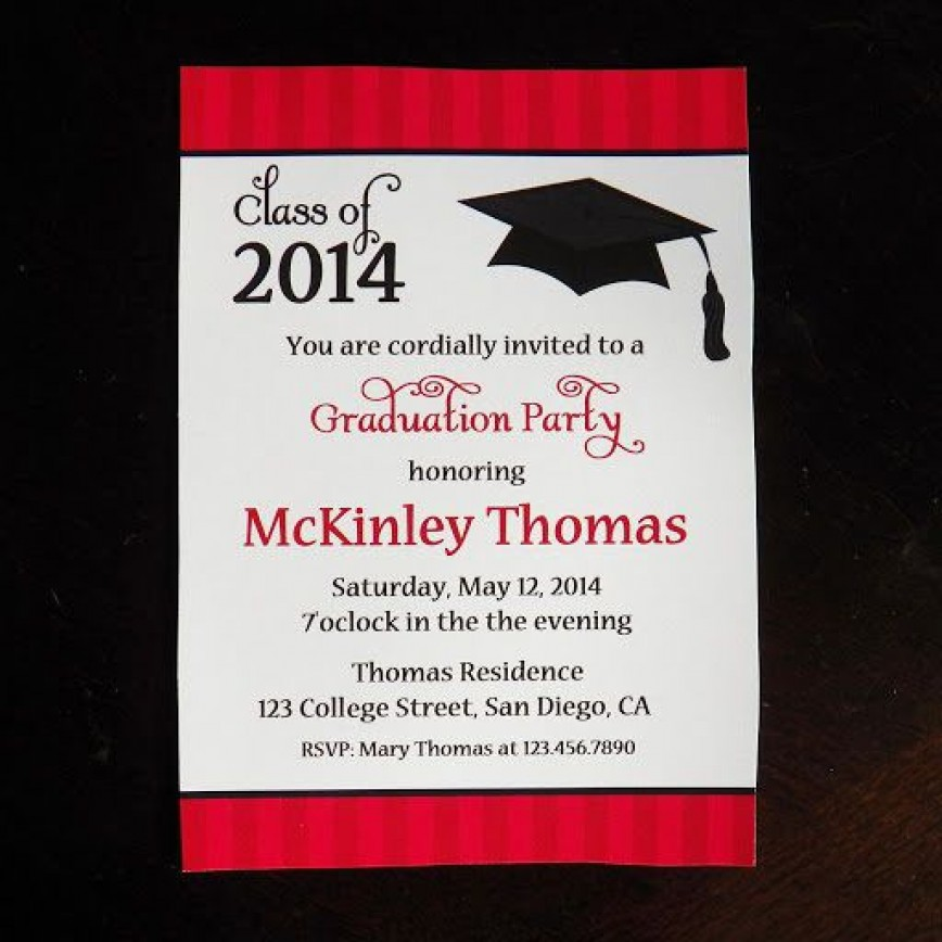 009 Fantastic Diy Graduation Announcement Template Free Design  Invitation