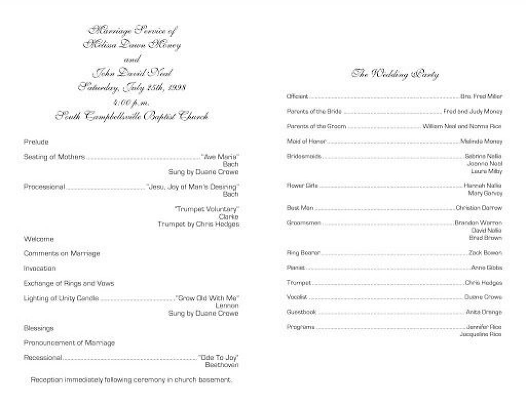 009 Fantastic Free Church Program Template Photo  Printable Anniversary DocLarge