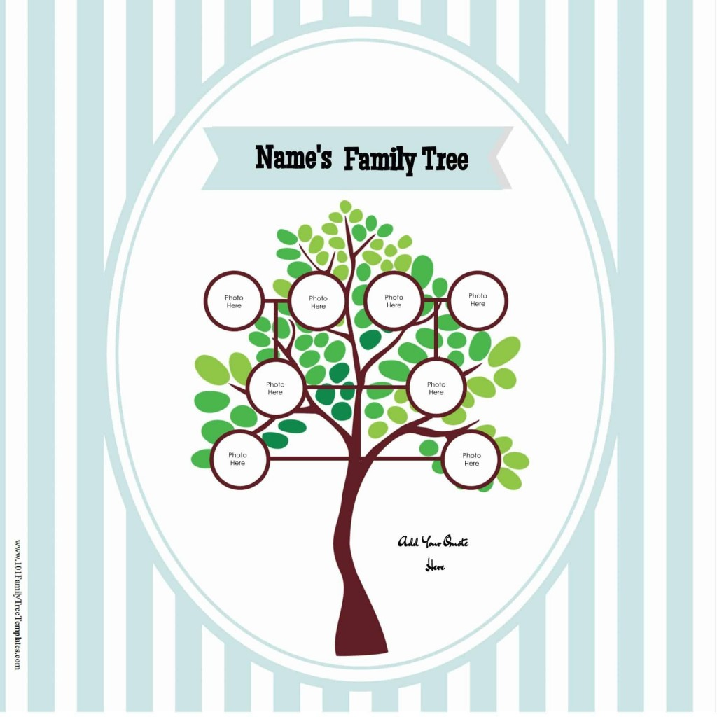 009 Fantastic Free Editable Family Tree Template With Sibling Photo  SiblingsLarge