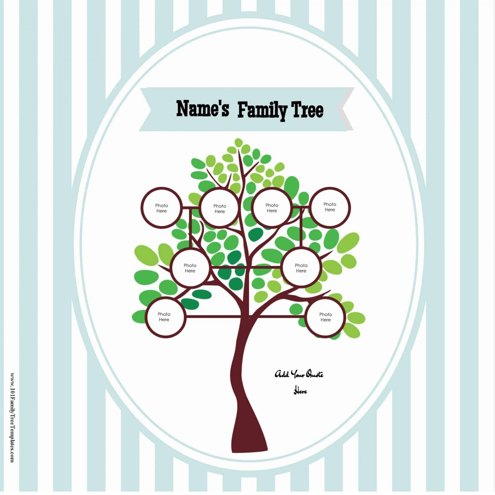 009 Fantastic Free Editable Family Tree Template With Sibling Photo  Siblings1920