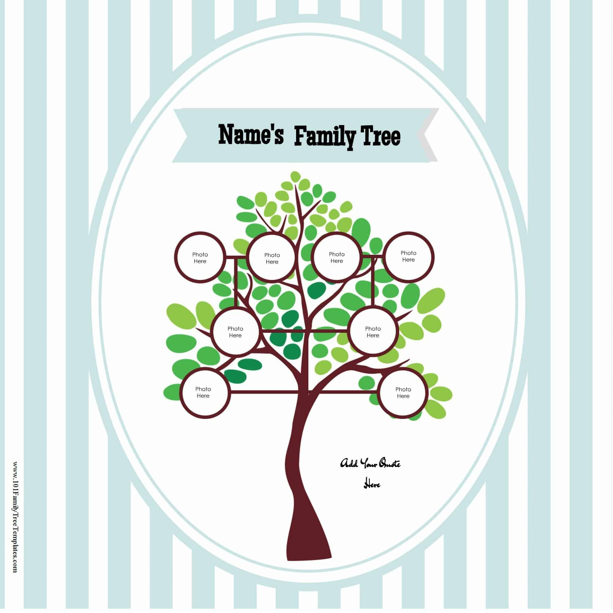 009 Fantastic Free Editable Family Tree Template With Sibling Photo  SiblingsFull