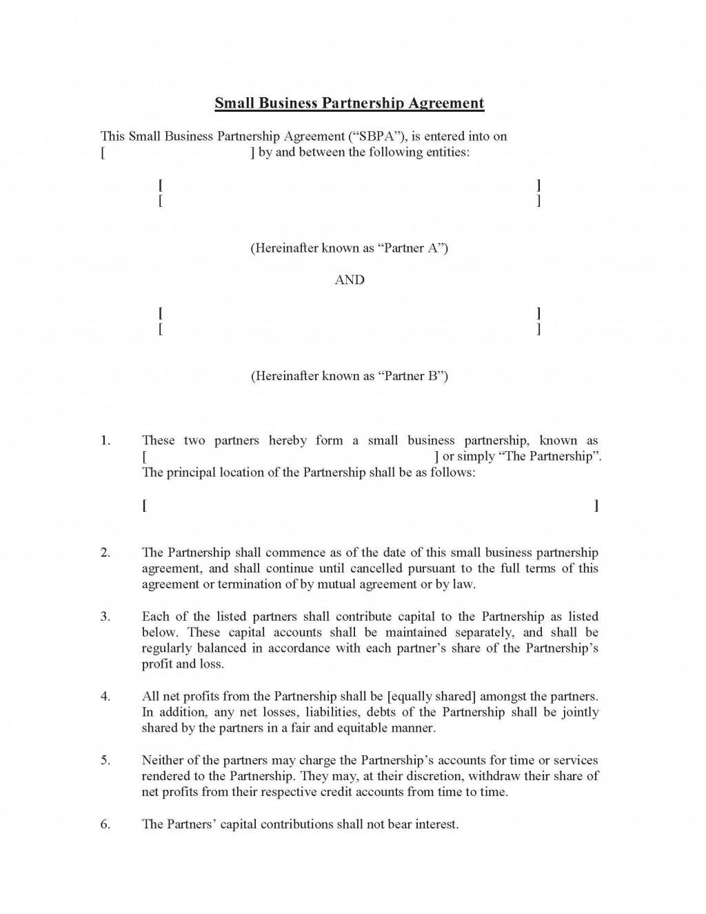 009 Fantastic Free Partnership Agreement Template Design  Uk Malaysia LlpLarge