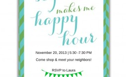 009 Fantastic Happy Hour Invitation Template Concept  Templates Free Word Farewell