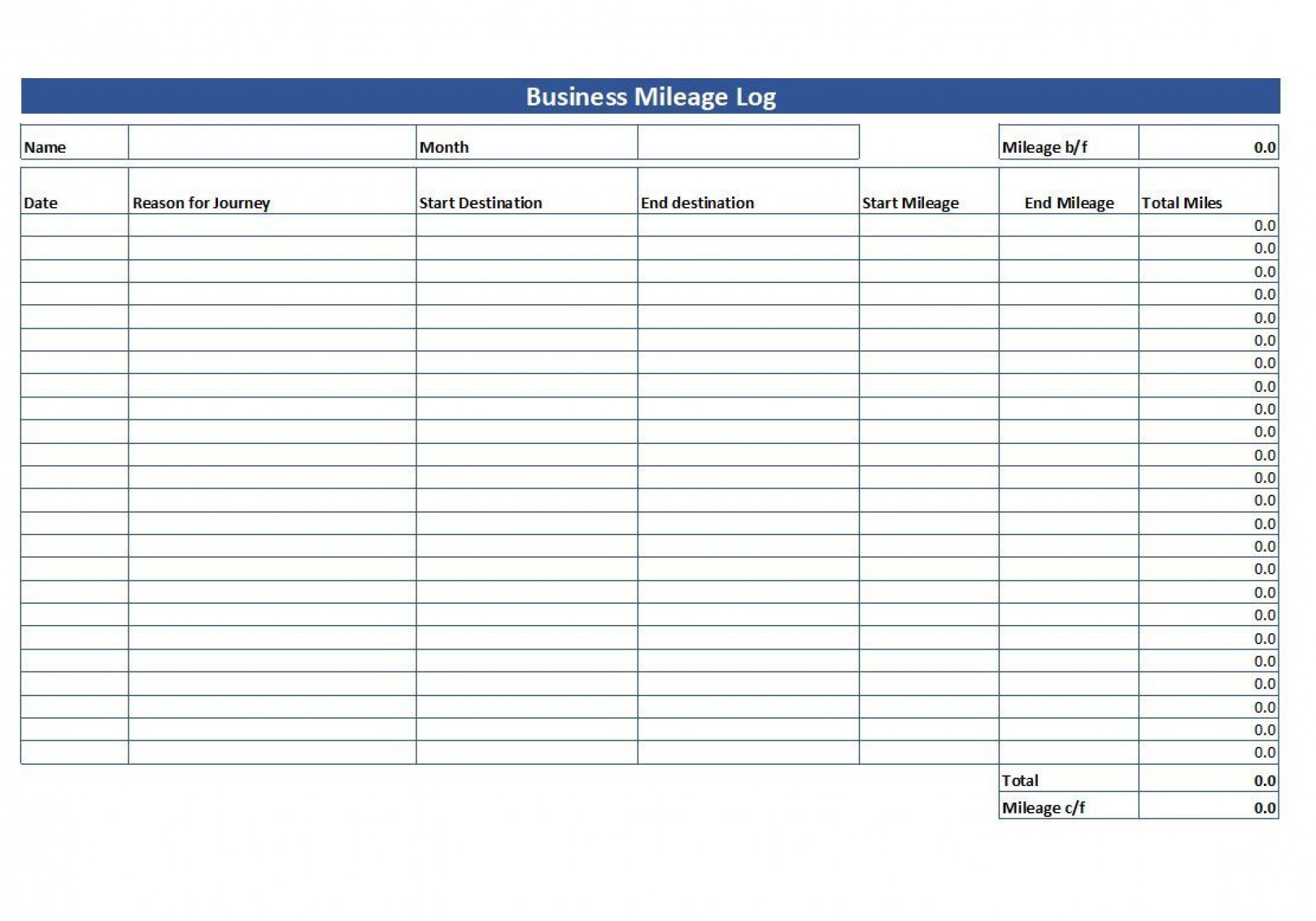 009 Fantastic Mileage Tracking Excel Template Highest Clarity 1920