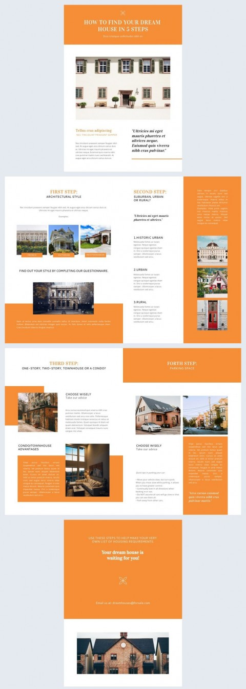 009 Fantastic Real Estate Newsletter Template Picture  Free Mailchimp480