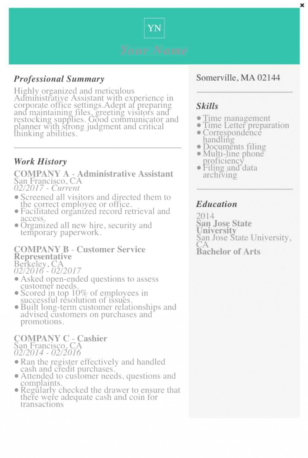 009 Fantastic Resume Template M Word 2019 Concept  Microsoft FreeLarge