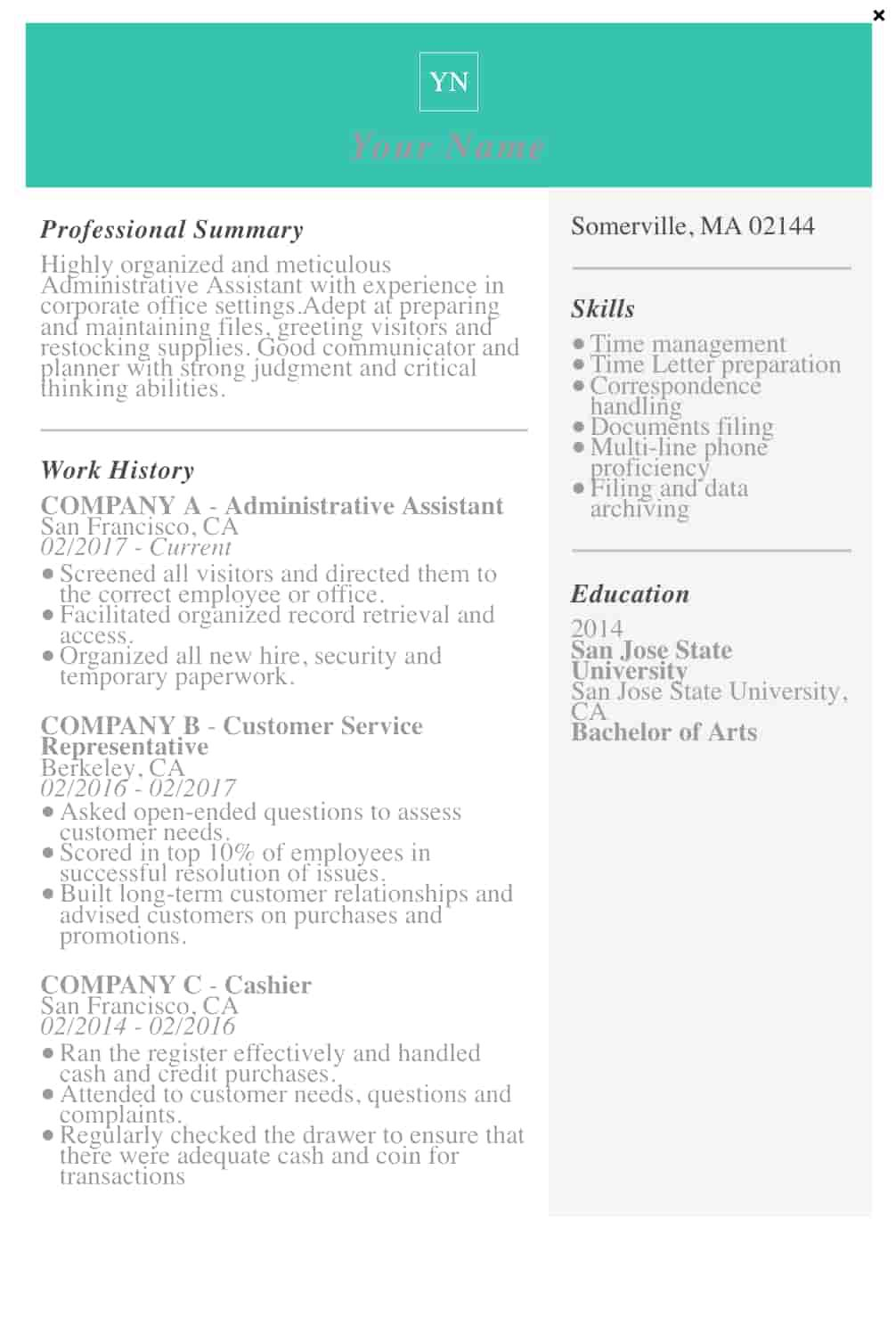 009 Fantastic Resume Template M Word 2019 Concept  Microsoft FreeFull