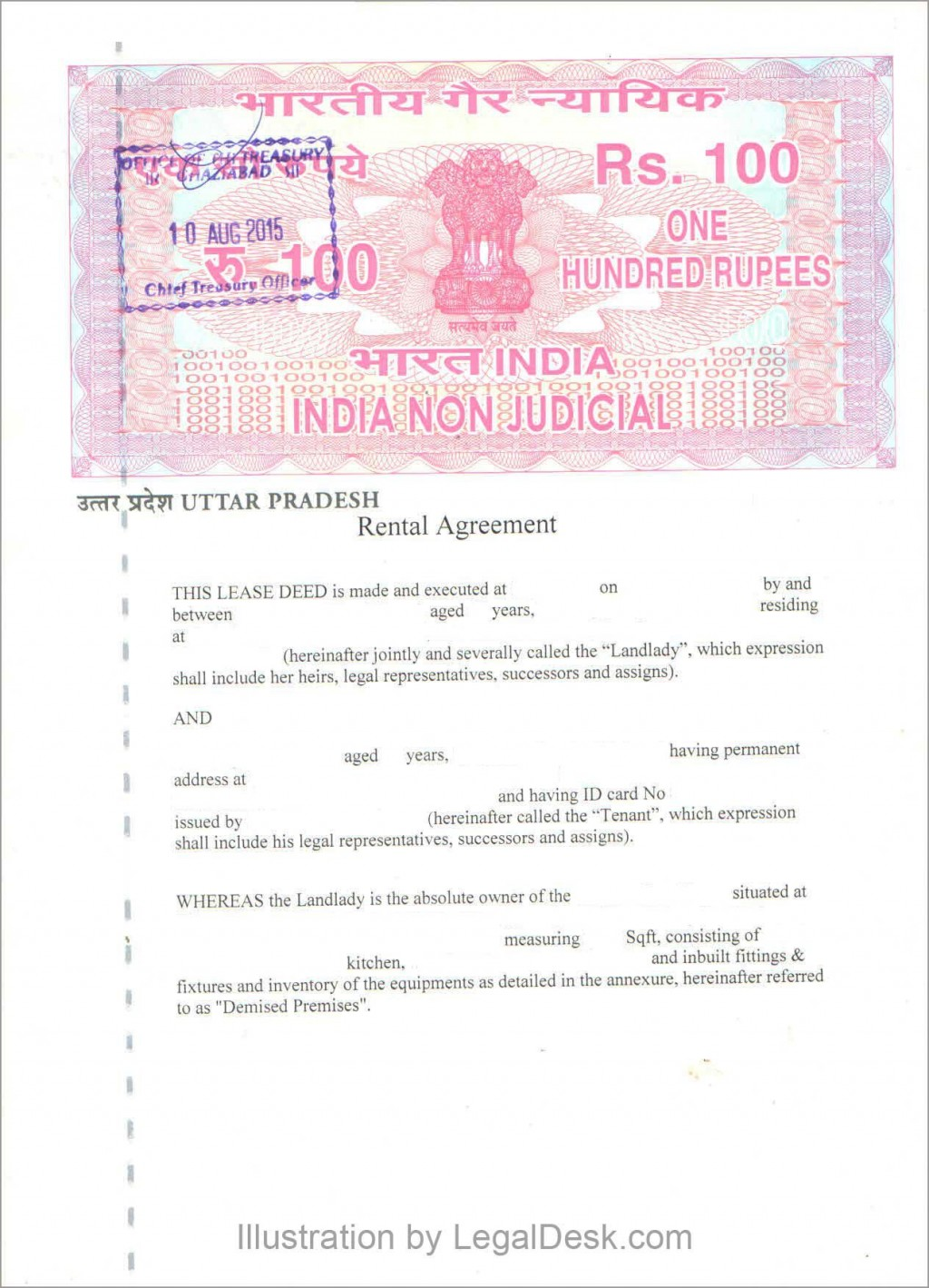 009 Fantastic Room Rent Agreement Format In Hindi Pdf Example Large