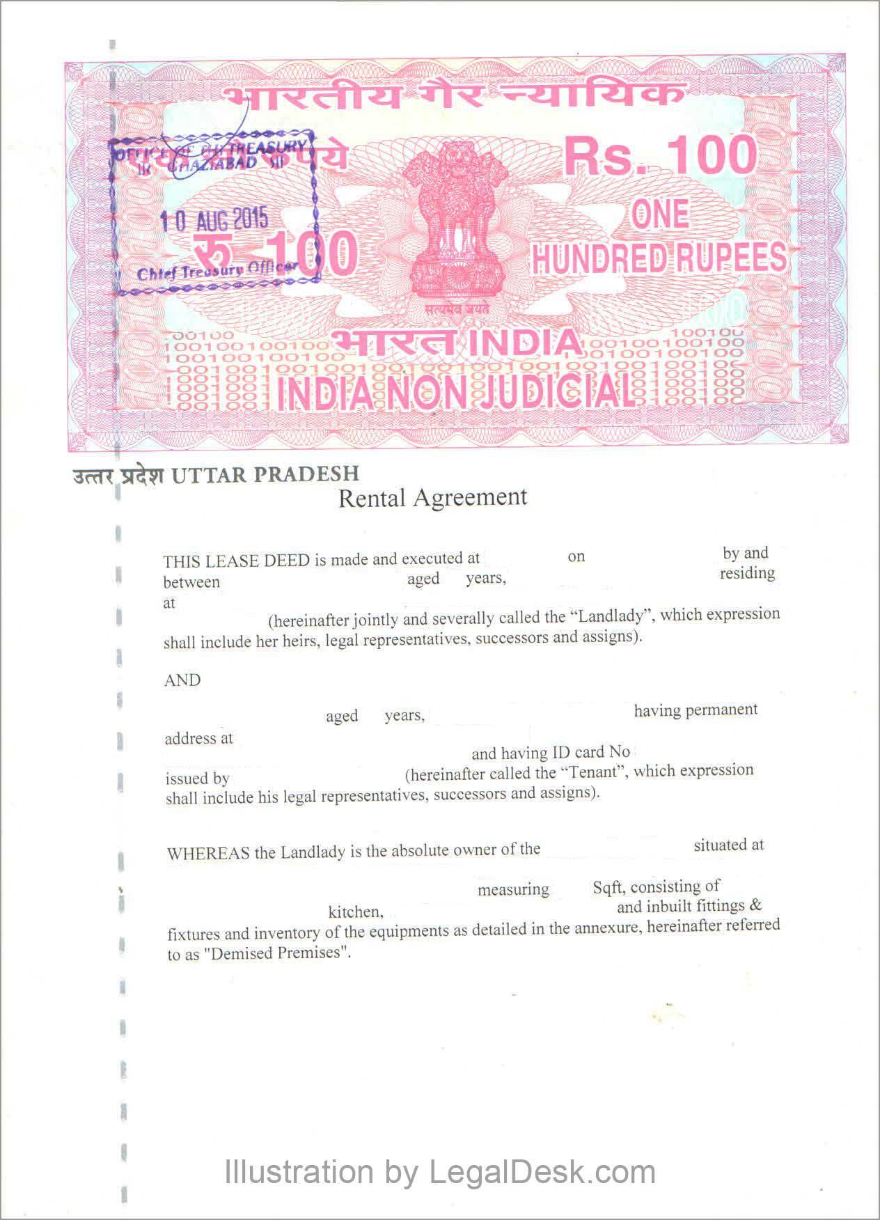 009 Fantastic Room Rent Agreement Format In Hindi Pdf Example Full