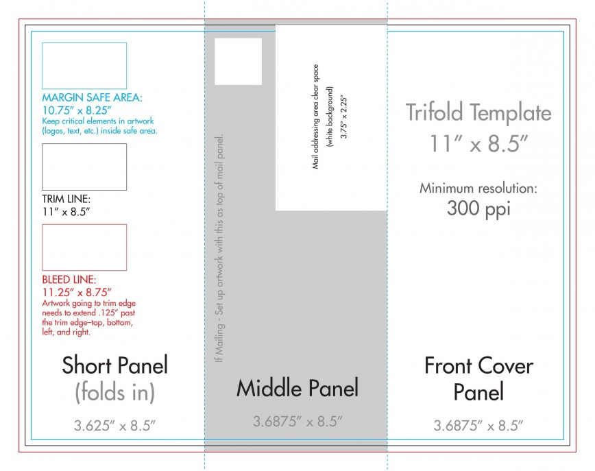 009 Fantastic Template For Trifold Brochure Sample  Tri Fold Download Free Blank Ai