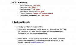 009 Fantastic Web Development Proposal Template Free High Def