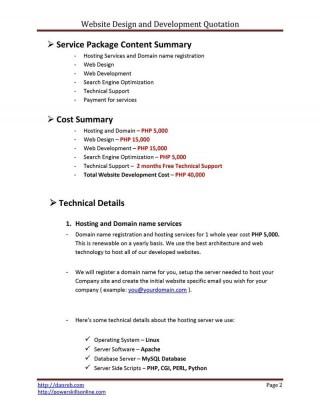 009 Fantastic Web Development Proposal Template Free High Def 320