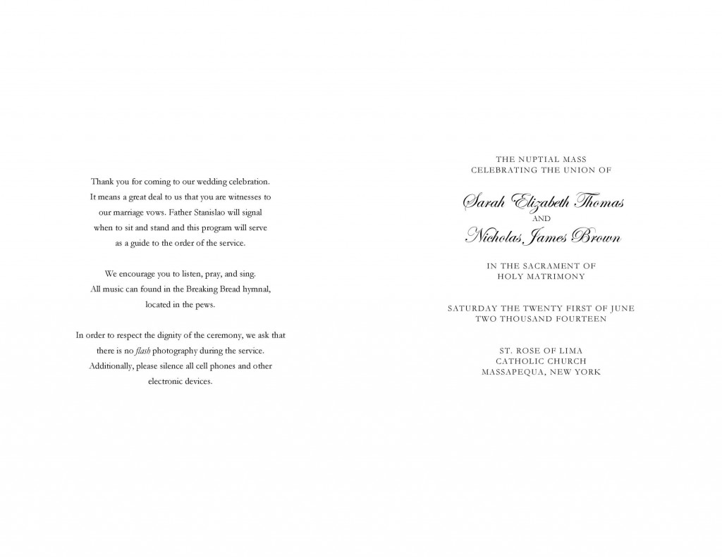 009 Fantastic Wedding Reception Program Template Picture  Templates Layout Free Download Ceremony AndLarge