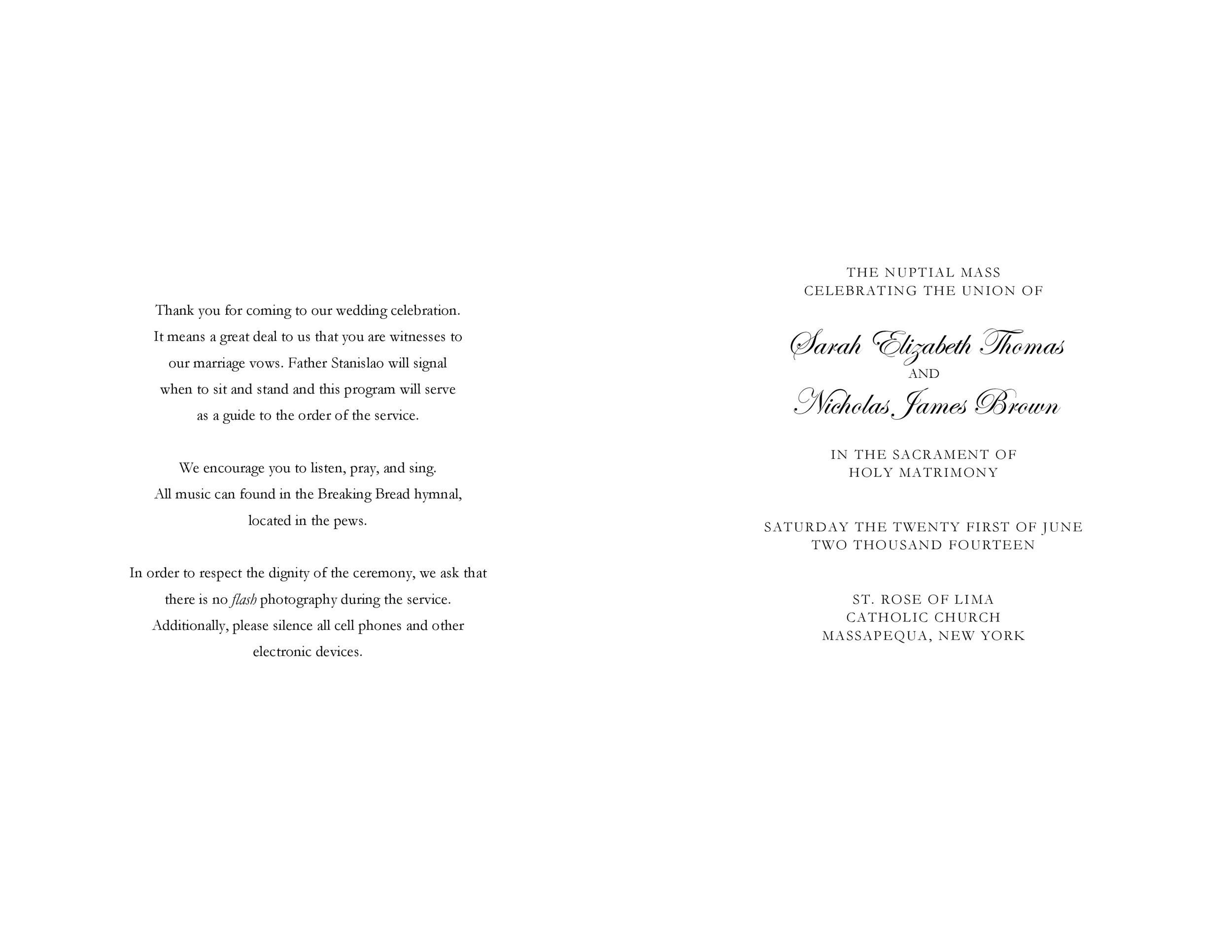 009 Fantastic Wedding Reception Program Template Picture  Templates Layout Free Download Ceremony AndFull