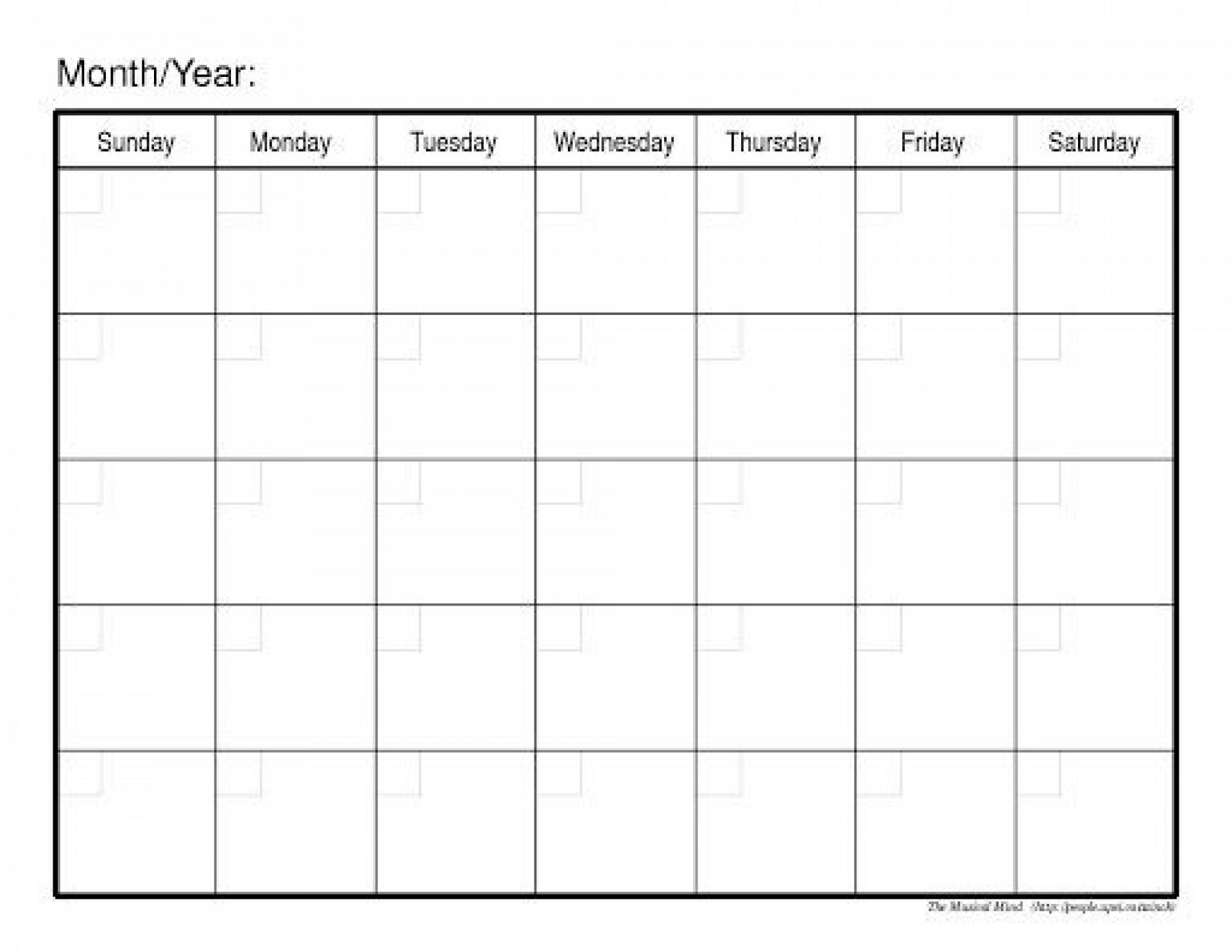 009 Fascinating Blank Calendar Template Word Inspiration  Microsoft 2019 Bi Monthly1920
