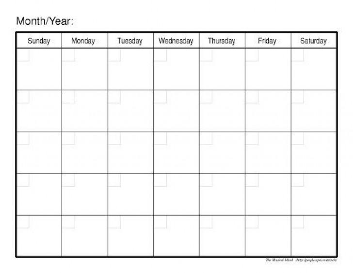 009 Fascinating Blank Calendar Template Word Inspiration  Microsoft 2019 Bi Monthly728
