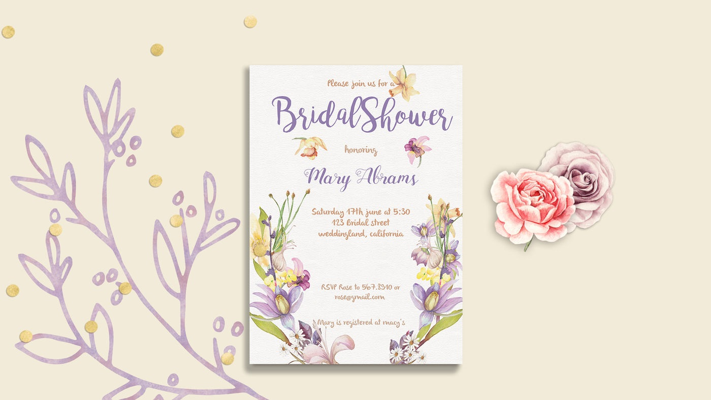 009 Fascinating Bridal Shower Card Template Inspiration  Invitation Free Download BingoFull