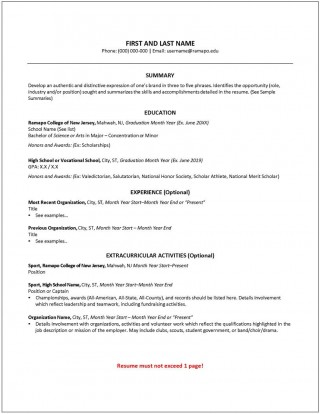 009 Fascinating College Freshman Resume Template Photo 320