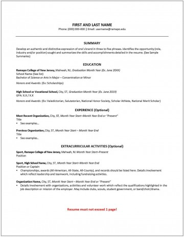 009 Fascinating College Freshman Resume Template Photo 360