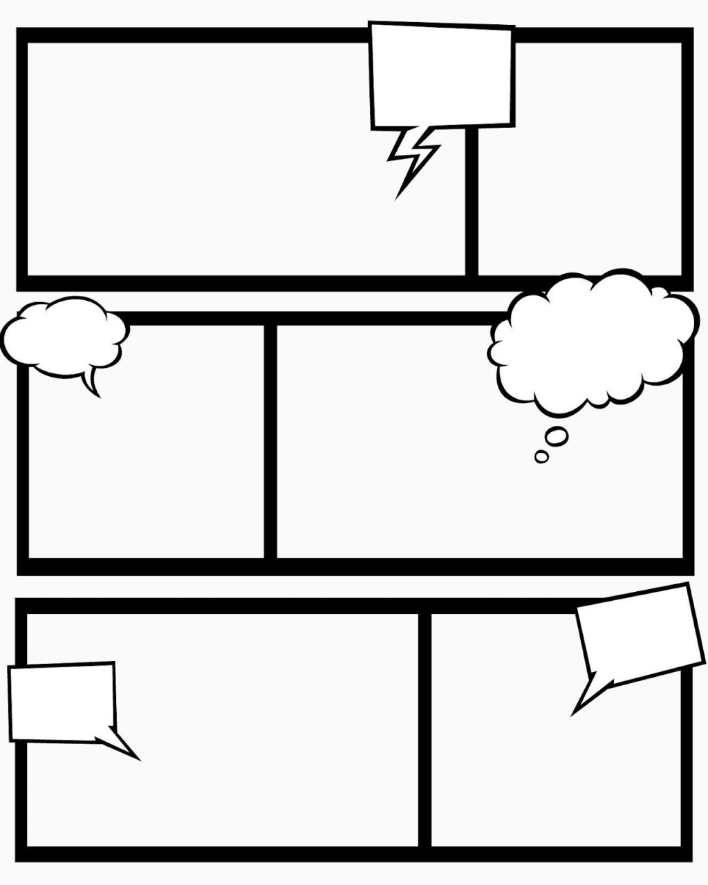 009 Fascinating Comic Strip Layout For Word Concept  Book Script Template Microsoft DocLarge
