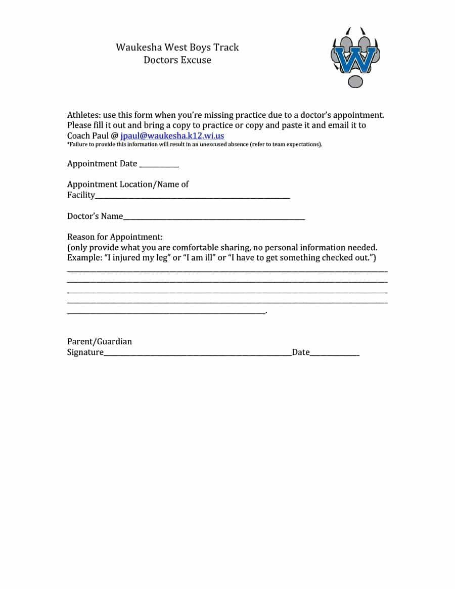 009 Fascinating Doctor Note For School Template Example  FakeFull