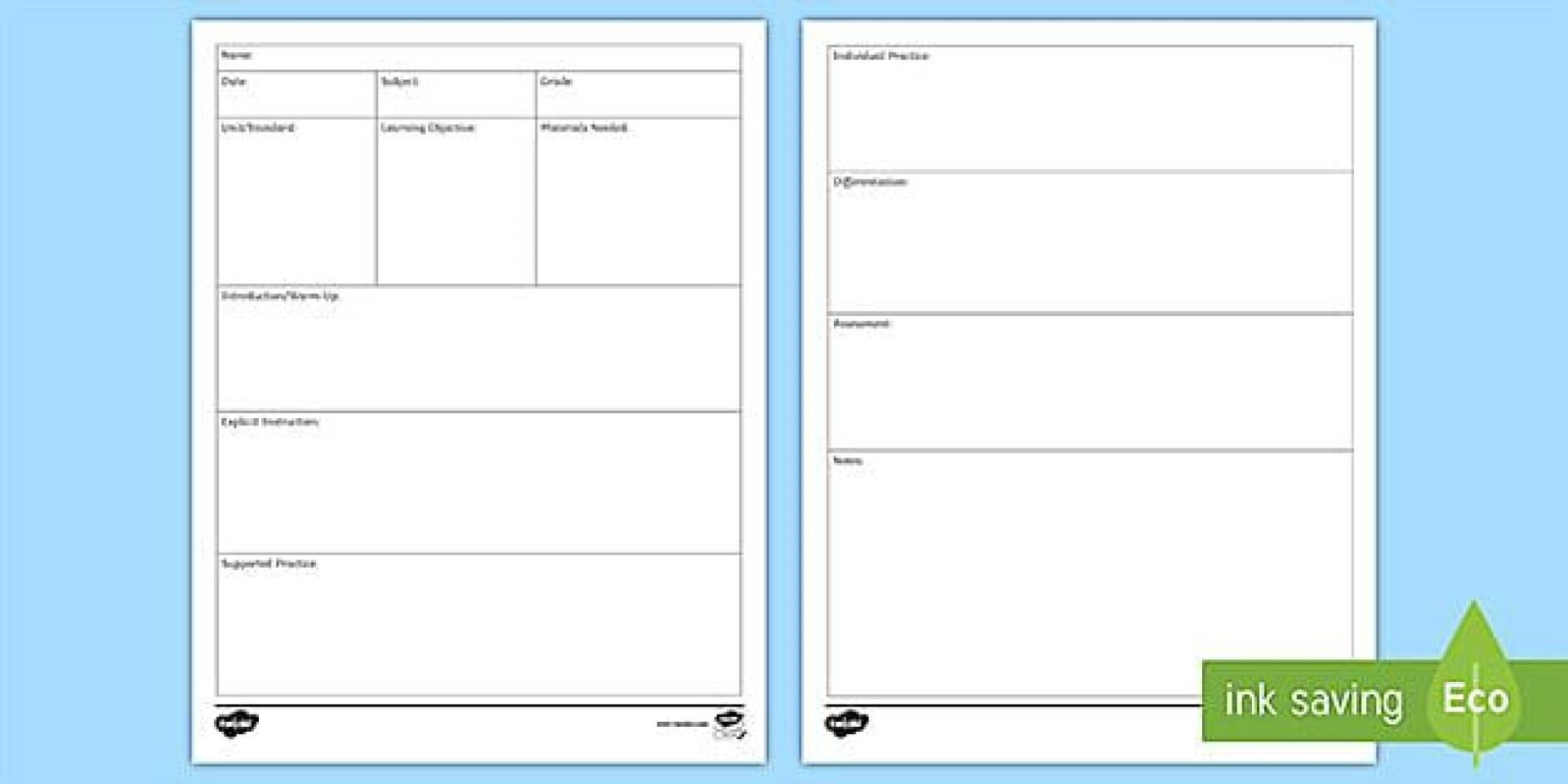009 Fascinating Editable Lesson Plan Template Elementary High Def 1920