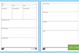009 Fascinating Editable Lesson Plan Template Elementary High Def