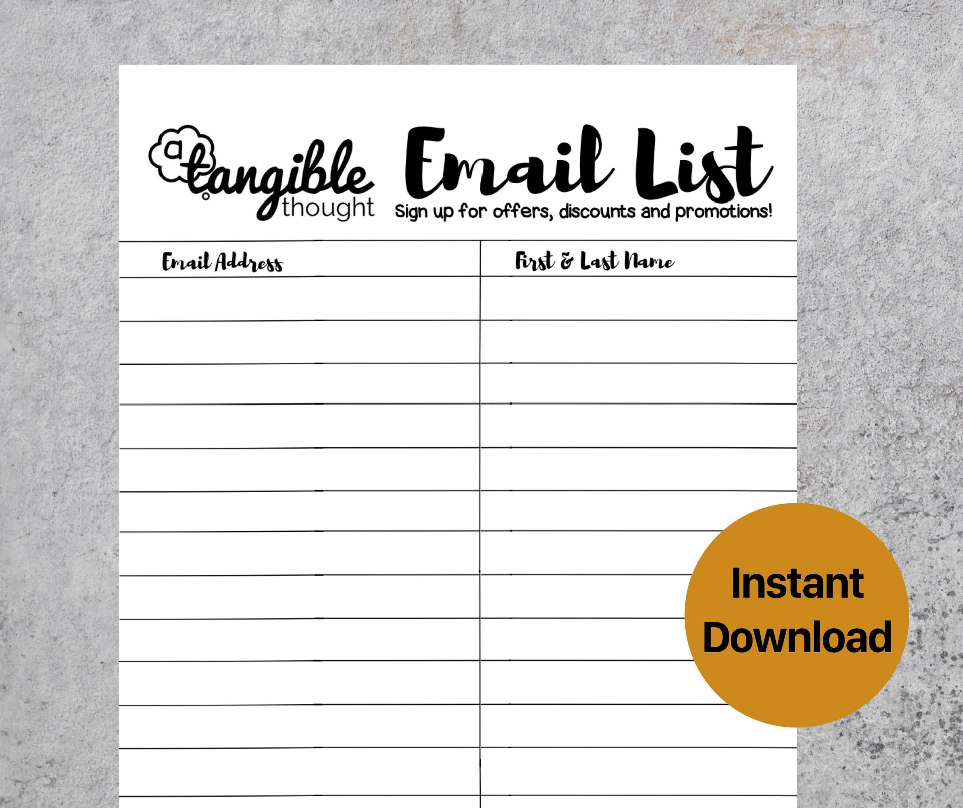 009 Fascinating Email Sign Up Template Sample  Sheet Google Doc1920
