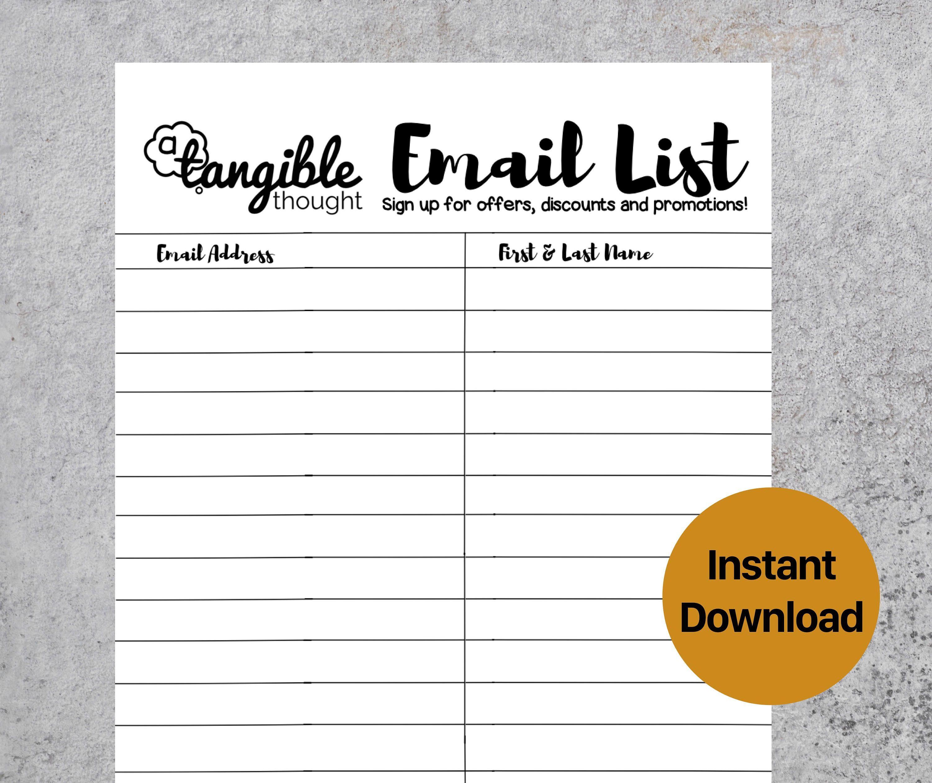 009 Fascinating Email Sign Up Template Sample  Sheet Google DocFull