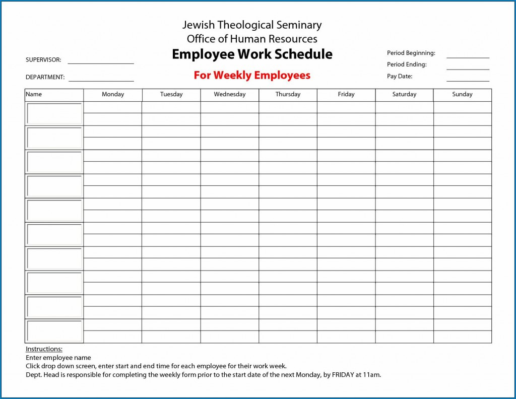 009 Fascinating Employee Schedule Template Free Image  Downloadable Weekly Work Training Excel ShiftLarge