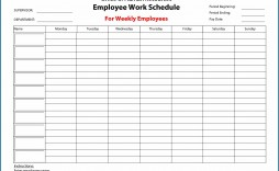 009 Fascinating Employee Schedule Template Free Image  Downloadable Weekly Work Training Excel Shift