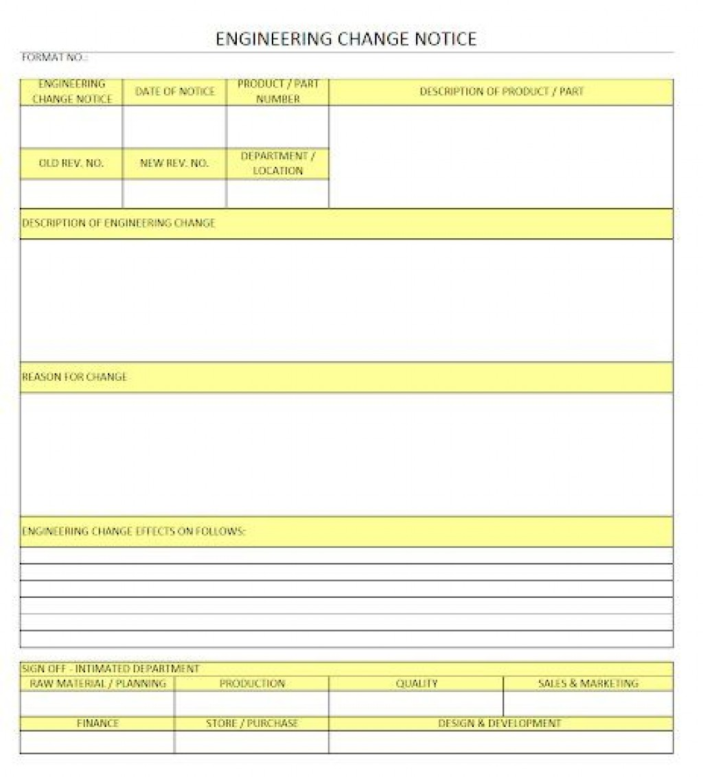 009 Fascinating Engineering Change Order Template Concept Large
