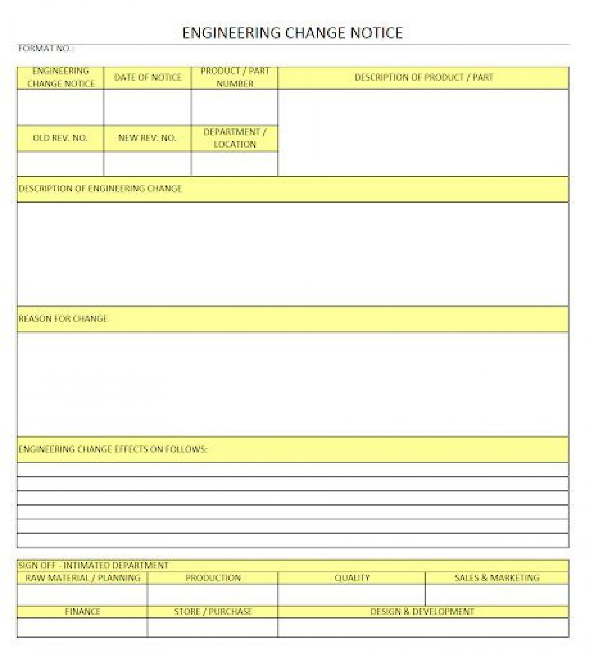 009 Fascinating Engineering Change Order Template Concept 1920