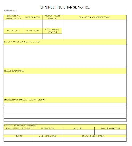 009 Fascinating Engineering Change Order Template Concept Full