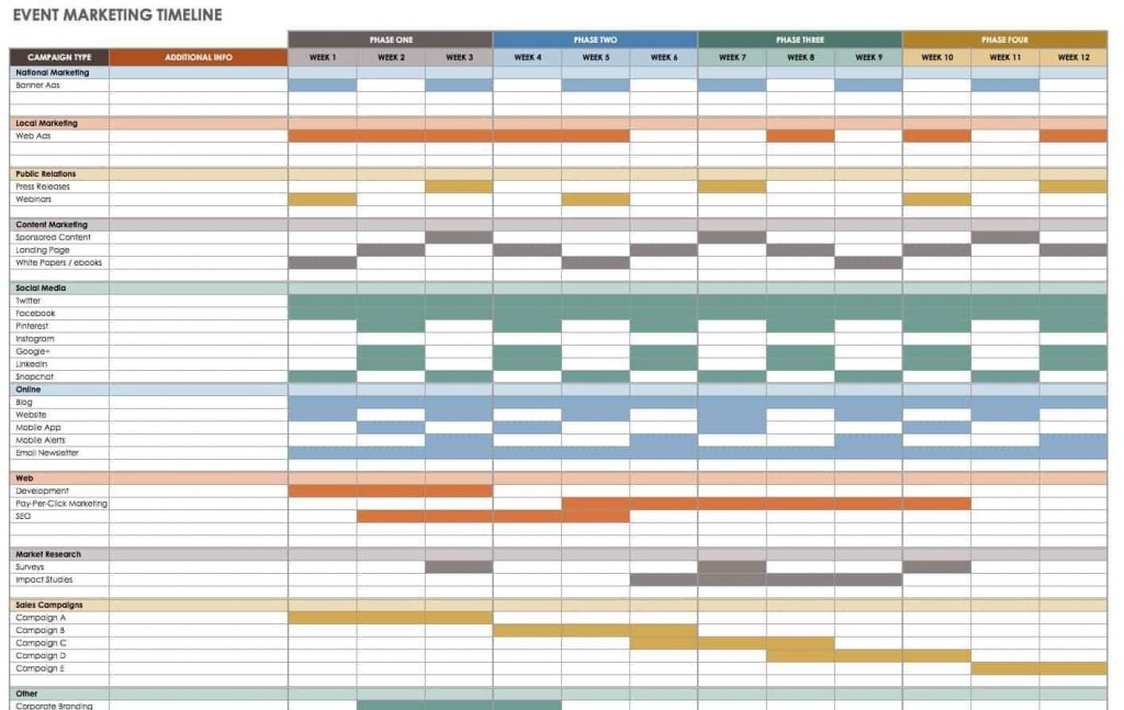 009 Fascinating Event Planning Timeline Template Example  Free ExcelLarge