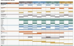 009 Fascinating Event Planning Timeline Template Example  Free Excel