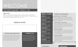 009 Fascinating Free Church Program Template Doc Sample